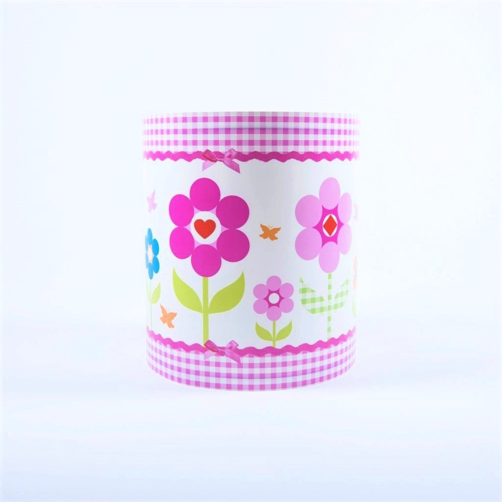 children's flower gingham lightshade