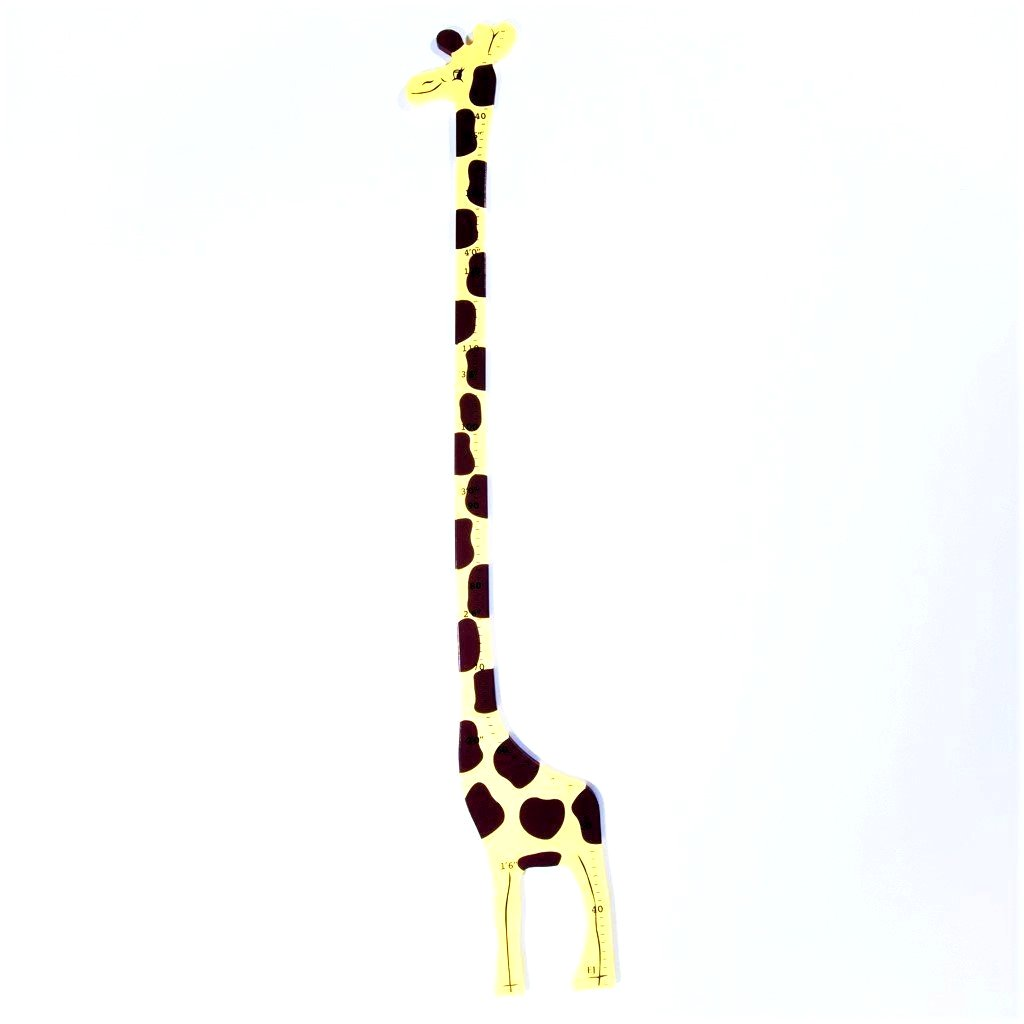 children's jungle giraffe height chart