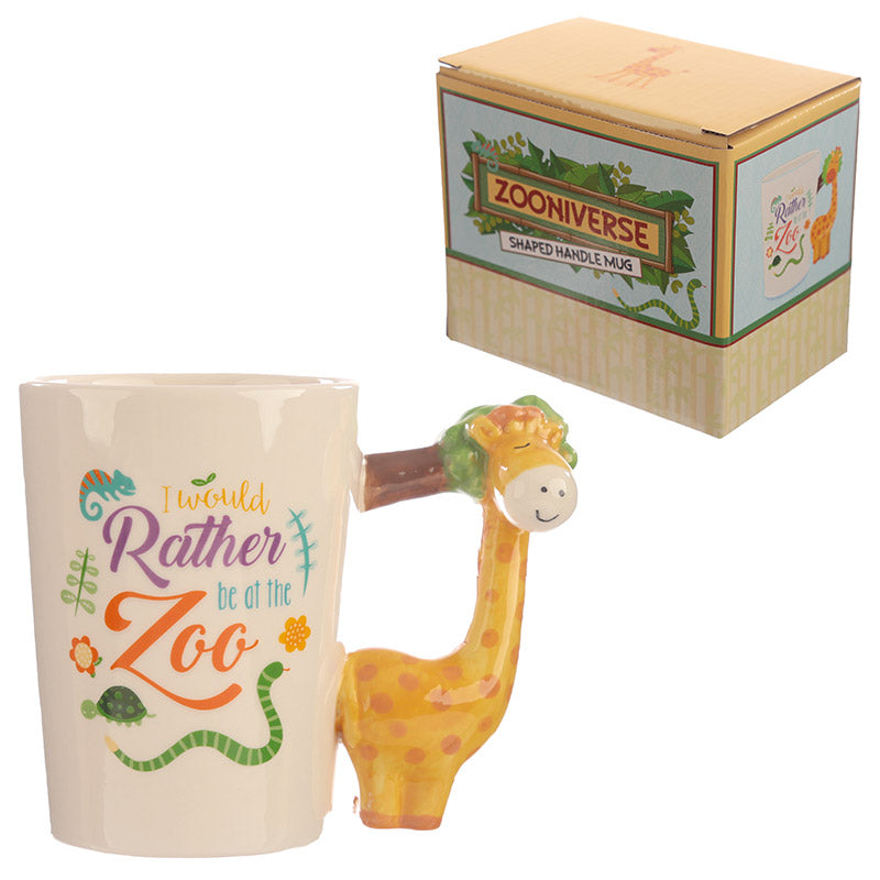 childrens ceramic jungle giraffe cup / mug