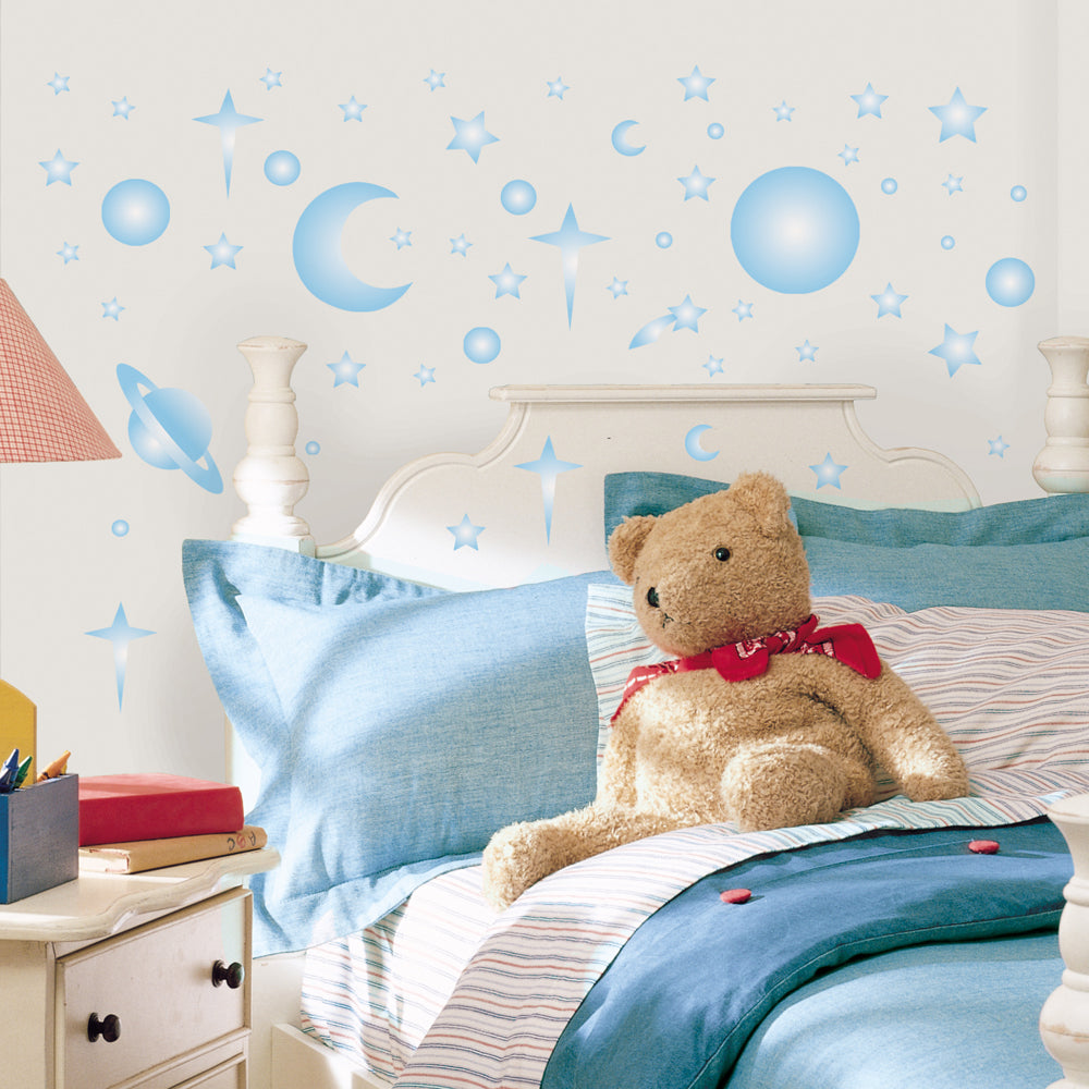 celestial night glow in the dark wall stickers