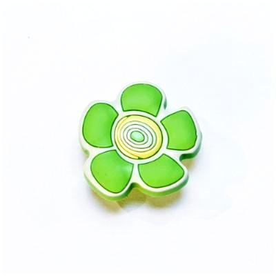childrens  green crazy daisy flower door knob