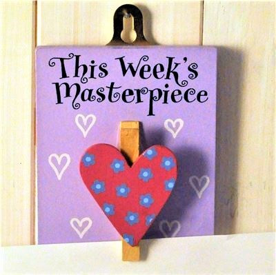 girls heart masterpiece peg