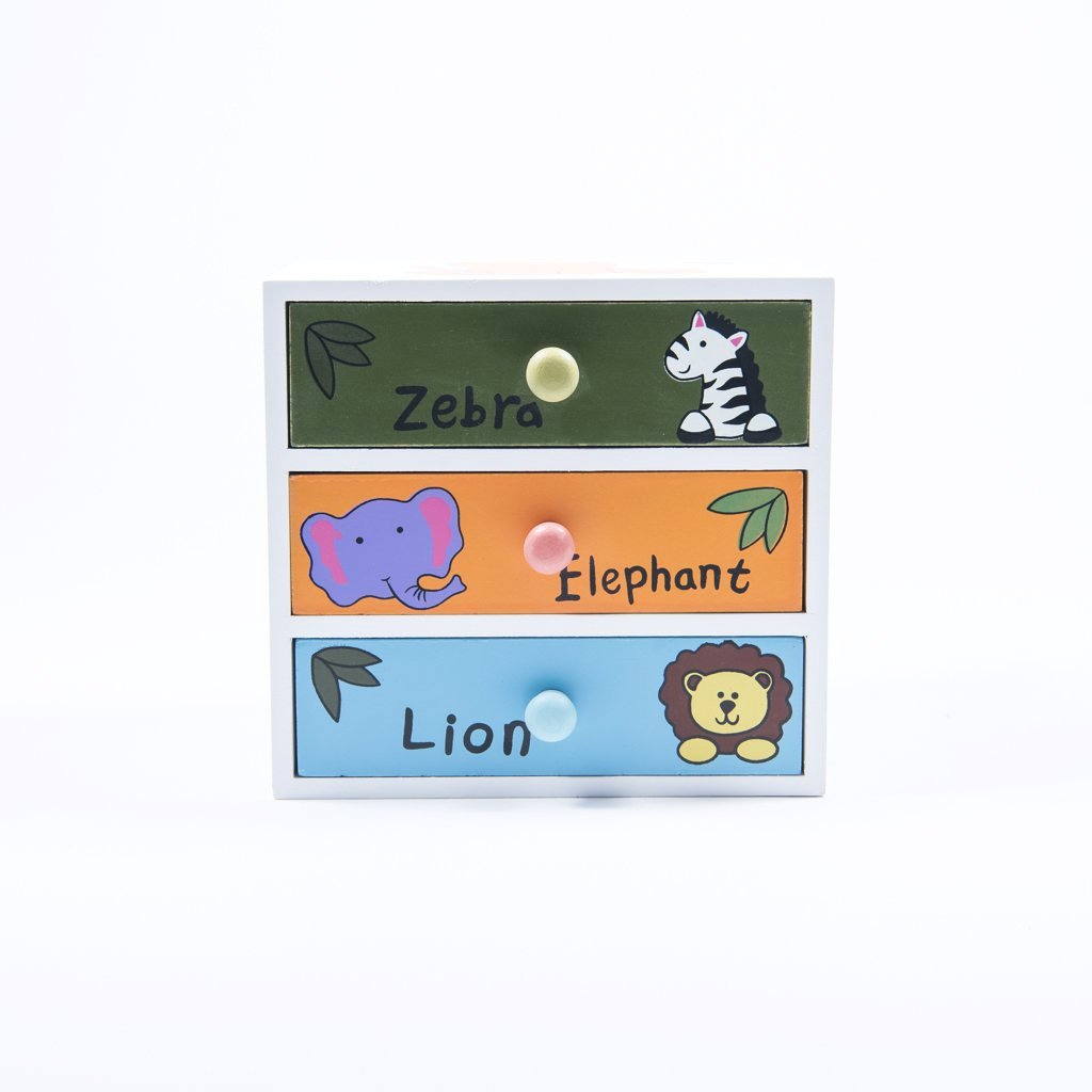 children's jungle animals desk tidy