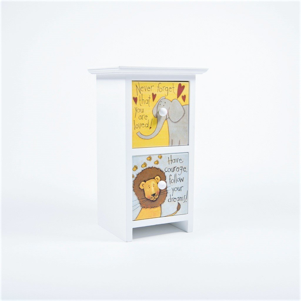 children's jungle, lion and elephant desk tidy