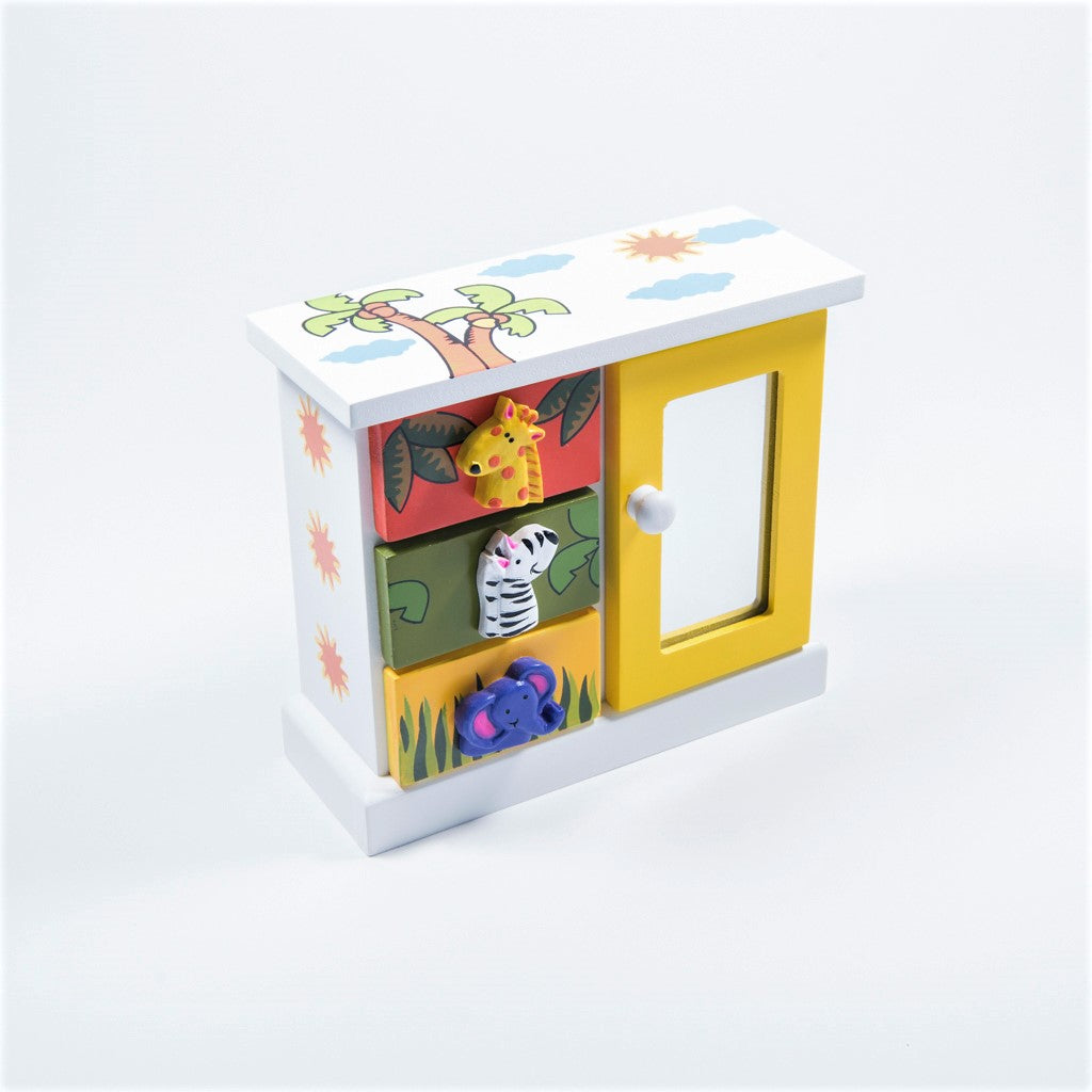jungle friends desk tidy with mirror