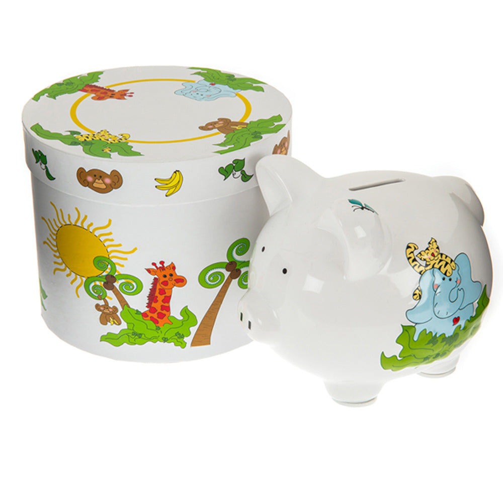 children's jungle piggy bank