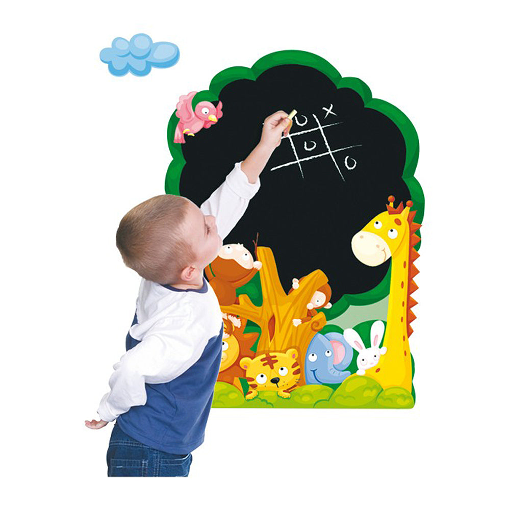 children's jungle tree chalkboard wall stickers