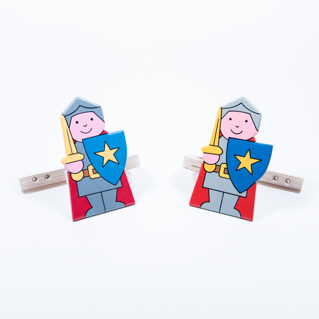children's wooden knights curtain tie backs