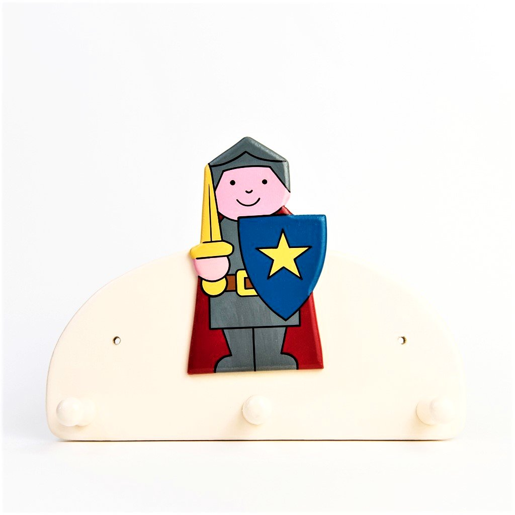 children's knight triple wall coat hook