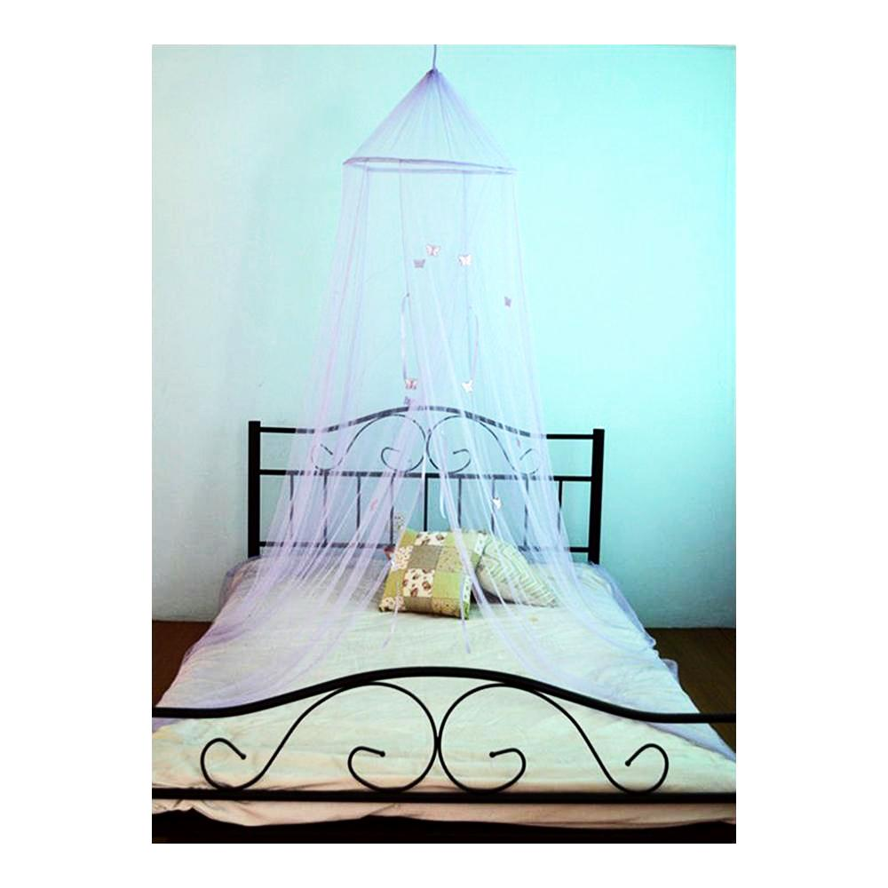 children's lilac butterfly bed canopy