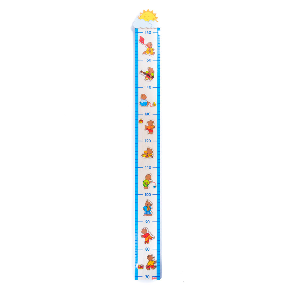 children's wooden little bear height chart