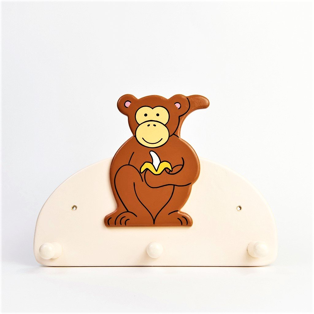 children's monkey triple coat wall hook