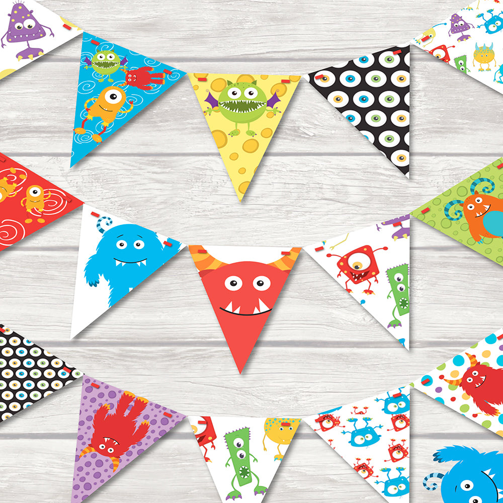 children's monster bunting