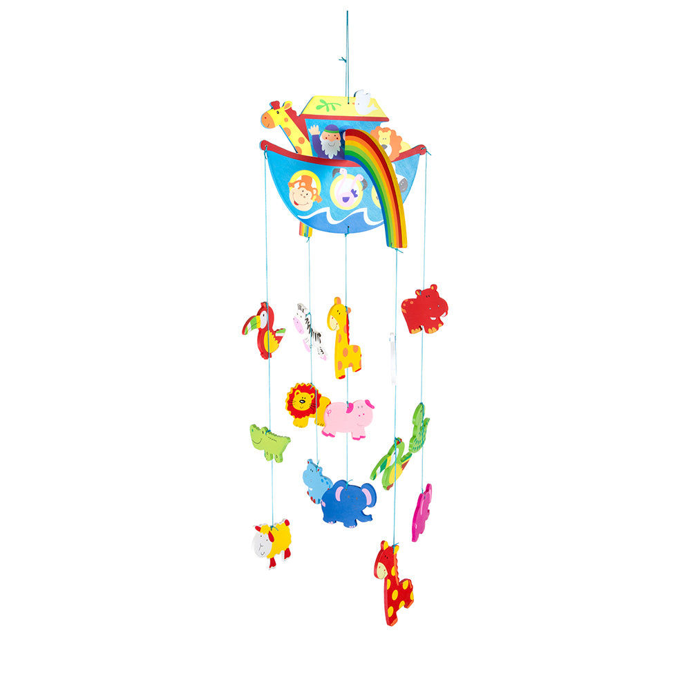 childrens hanging noahs ark mobile