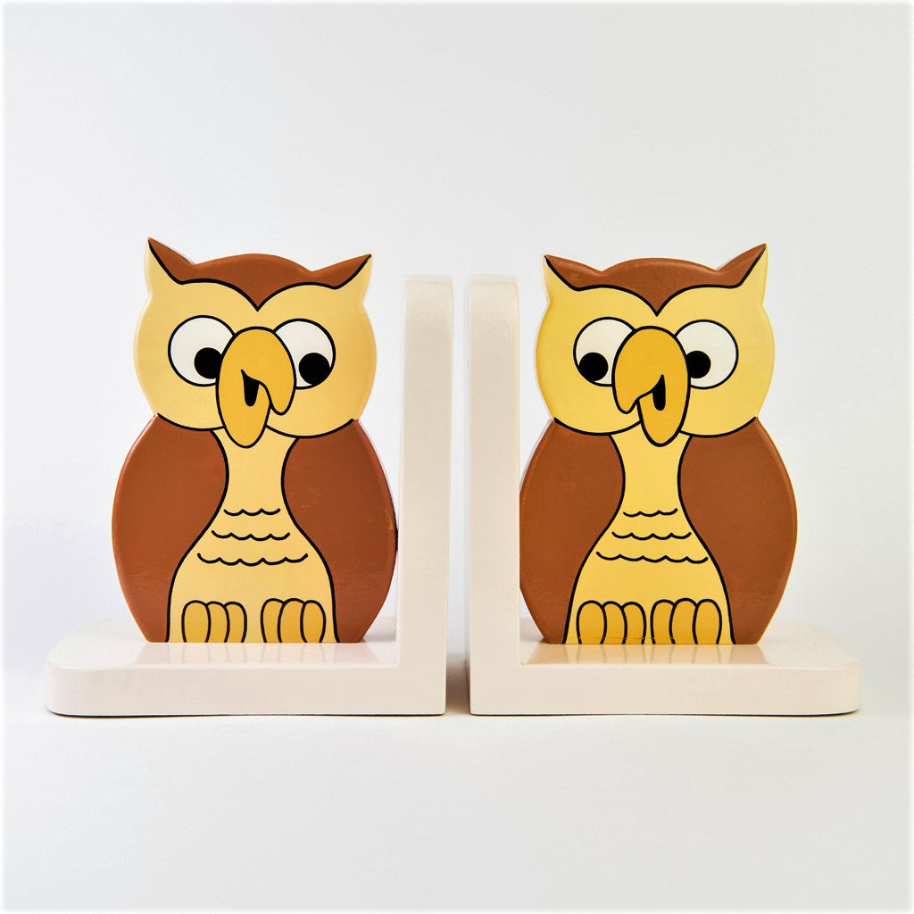 Childrens Wooden Owl Bookends Little Ragamuffin S