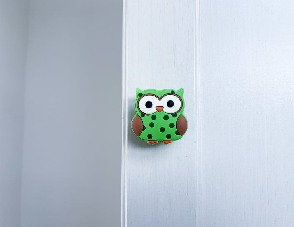 Green Owl Door / Drawer Knob