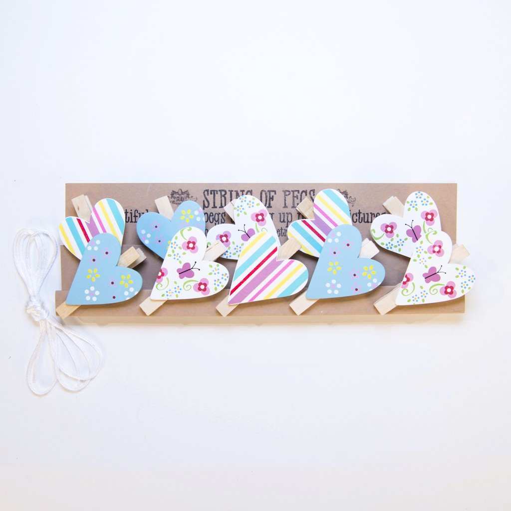 children's pretty patchwork string of pegs bunting