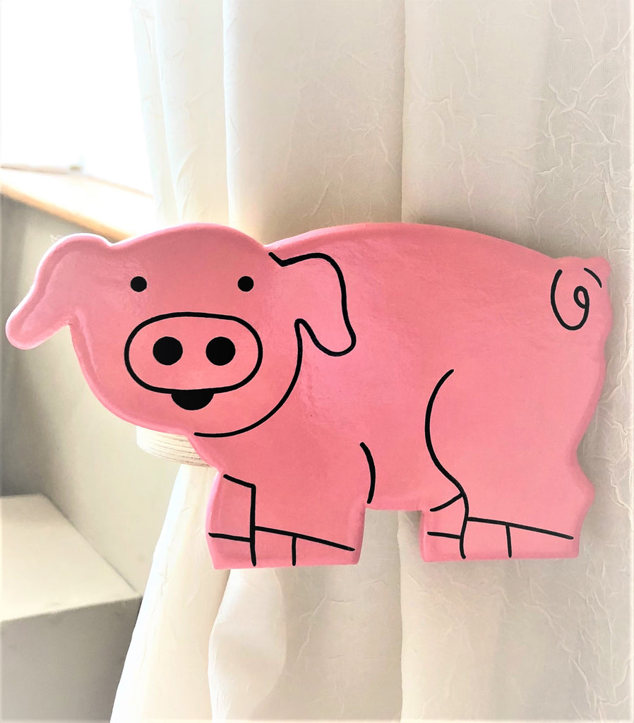 piggy curtain tie backs