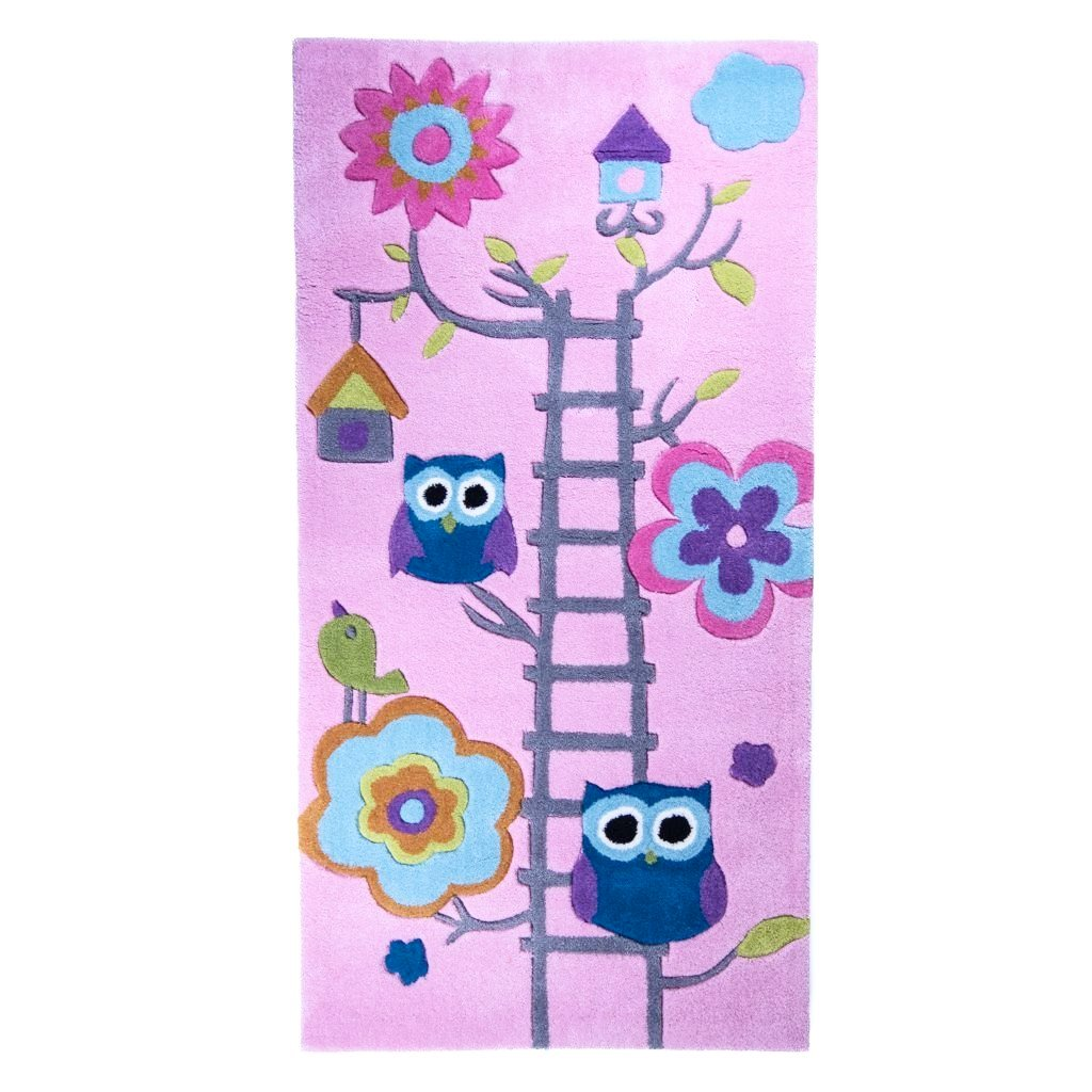 children's woodland owl rug