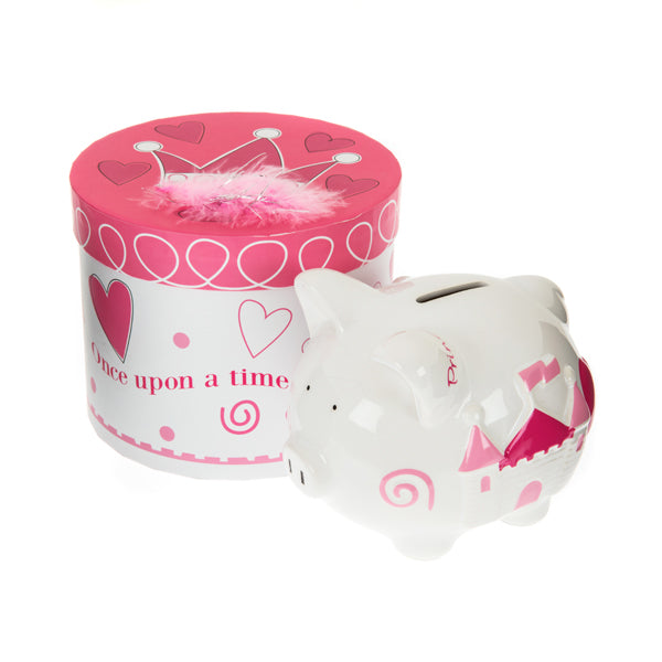 pink princess piggy bank