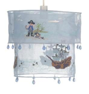 childrens blue pirate light shade