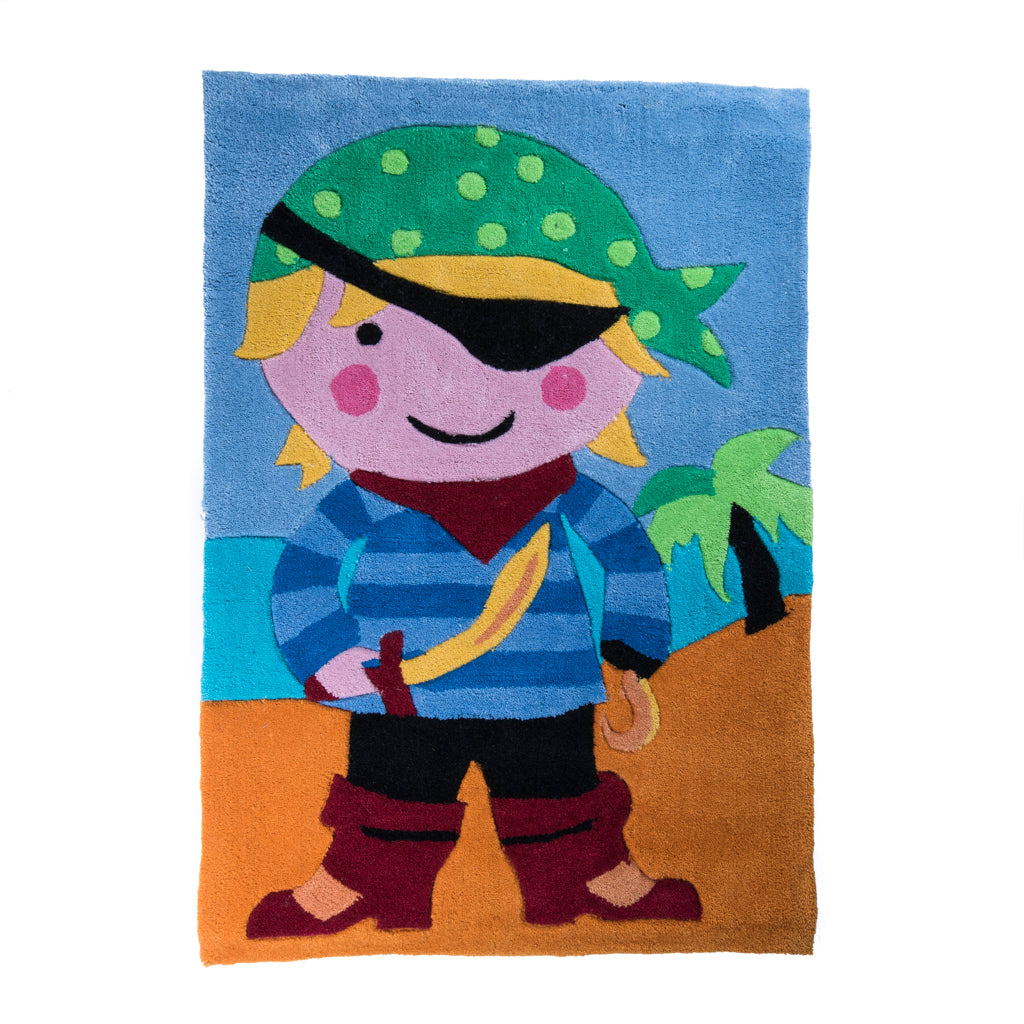 Childrens Bedroom Pirates Rug Little Ragamuffin S