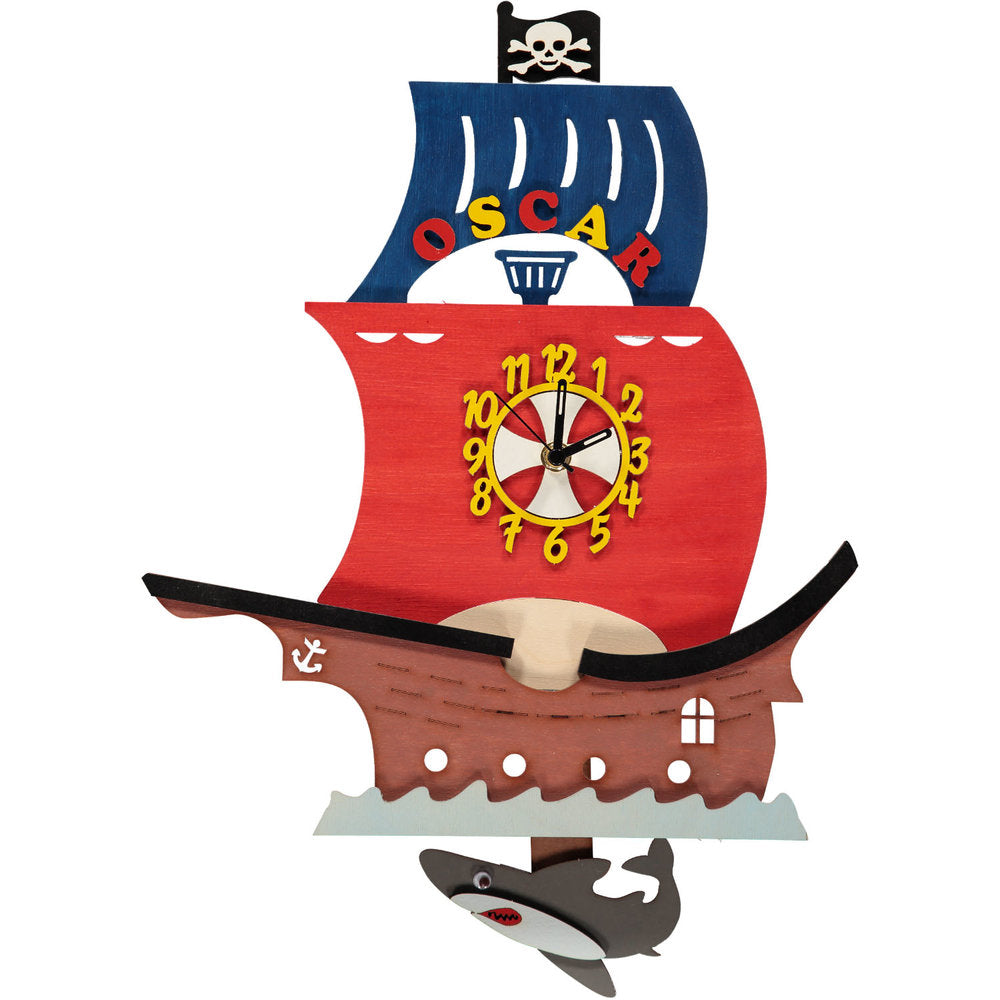 Pirate Ship Pendulum Clock