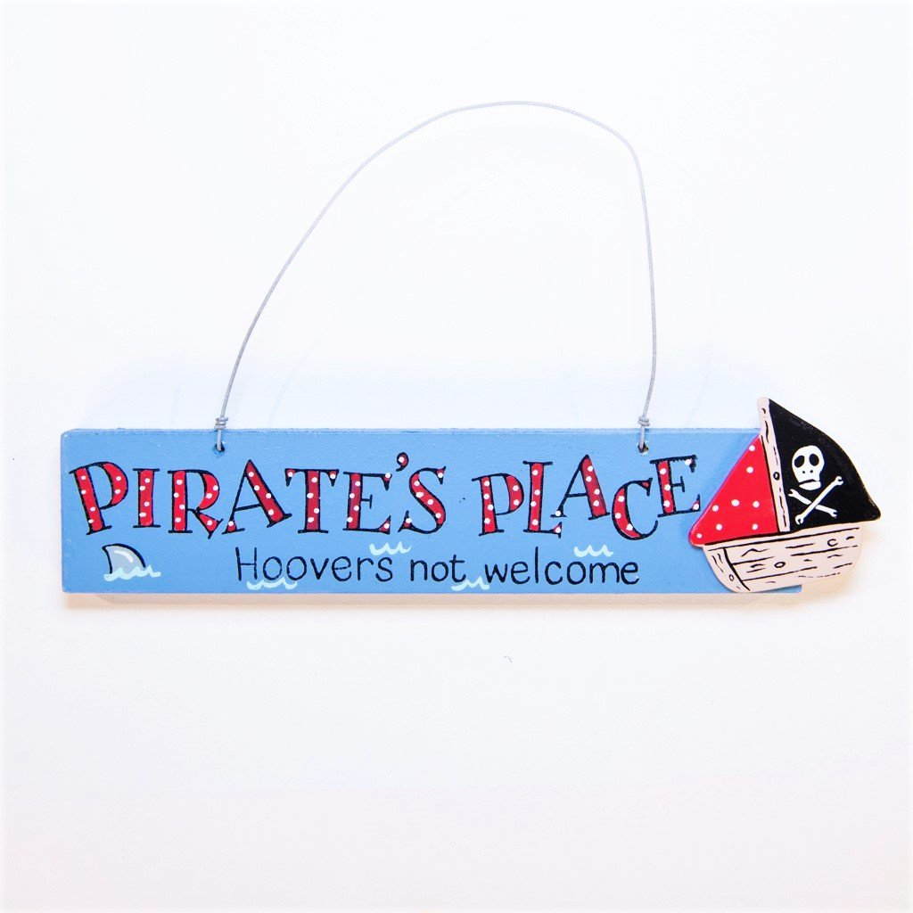 children's pirate door plaque