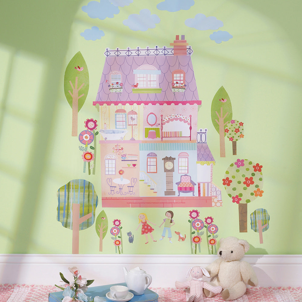 girls playhouse wall stickers