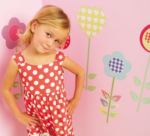 childrens polly patch flower walls stickers