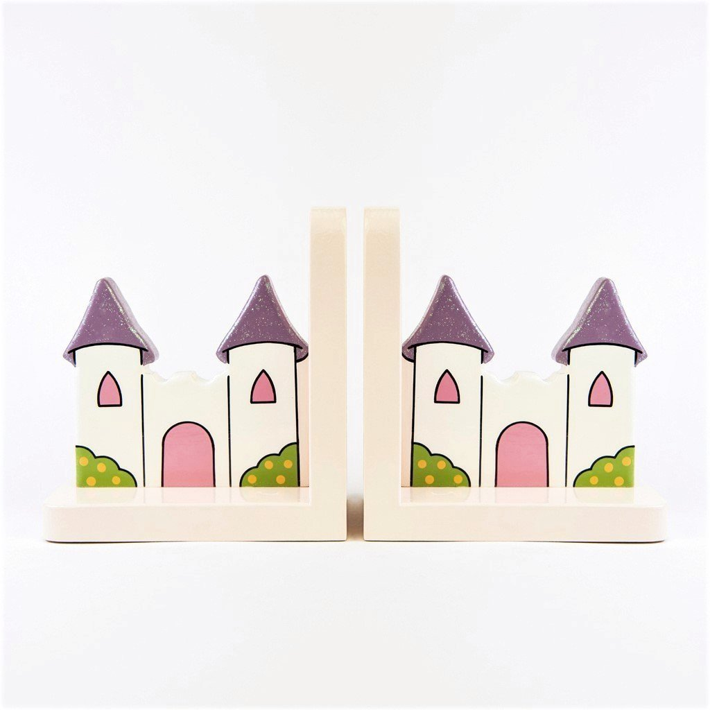 children's wooden princess castle bookends