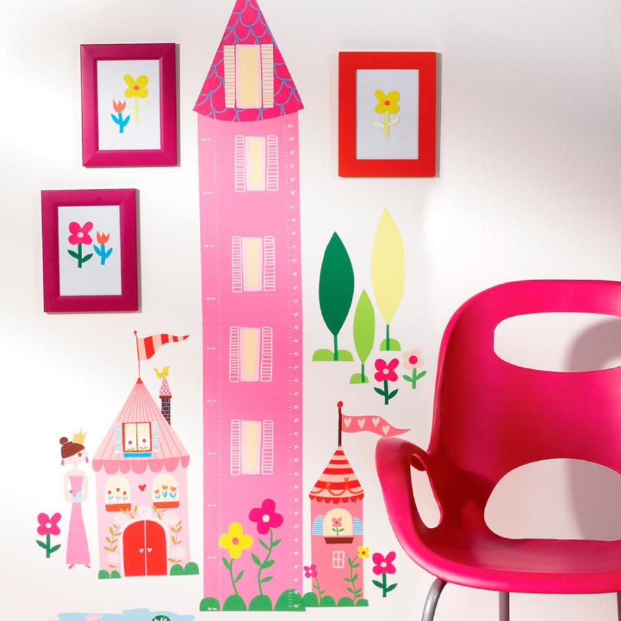 princess height chart wall stickers