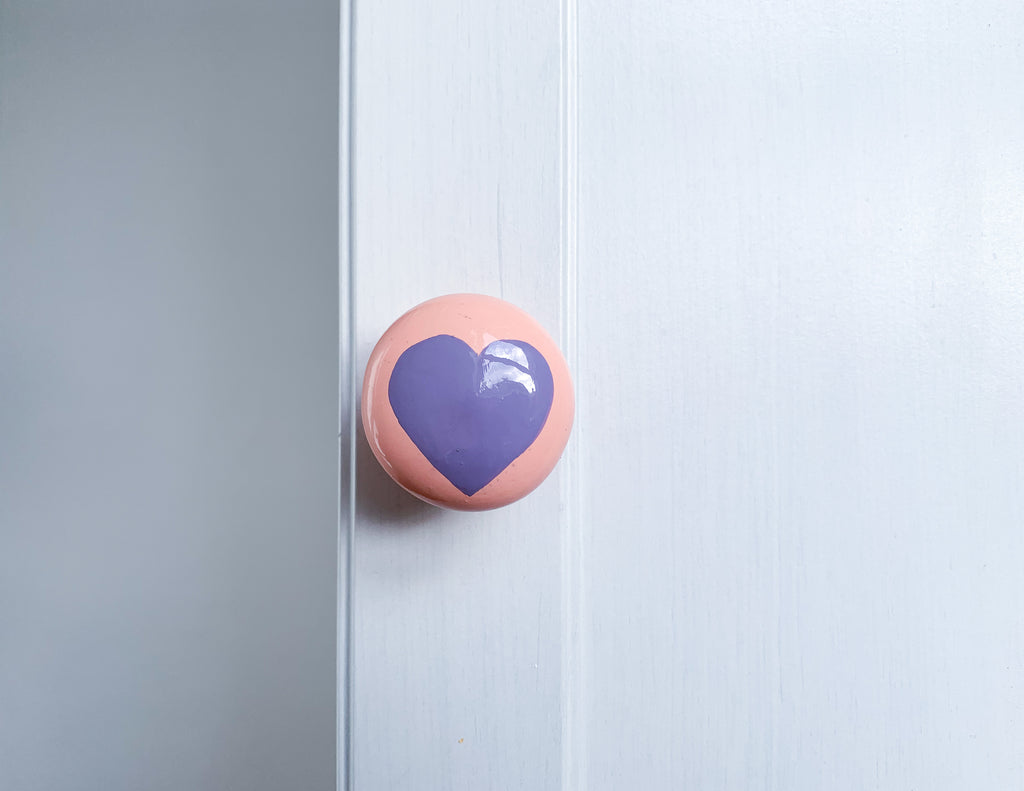 Purple Heart Door Knob