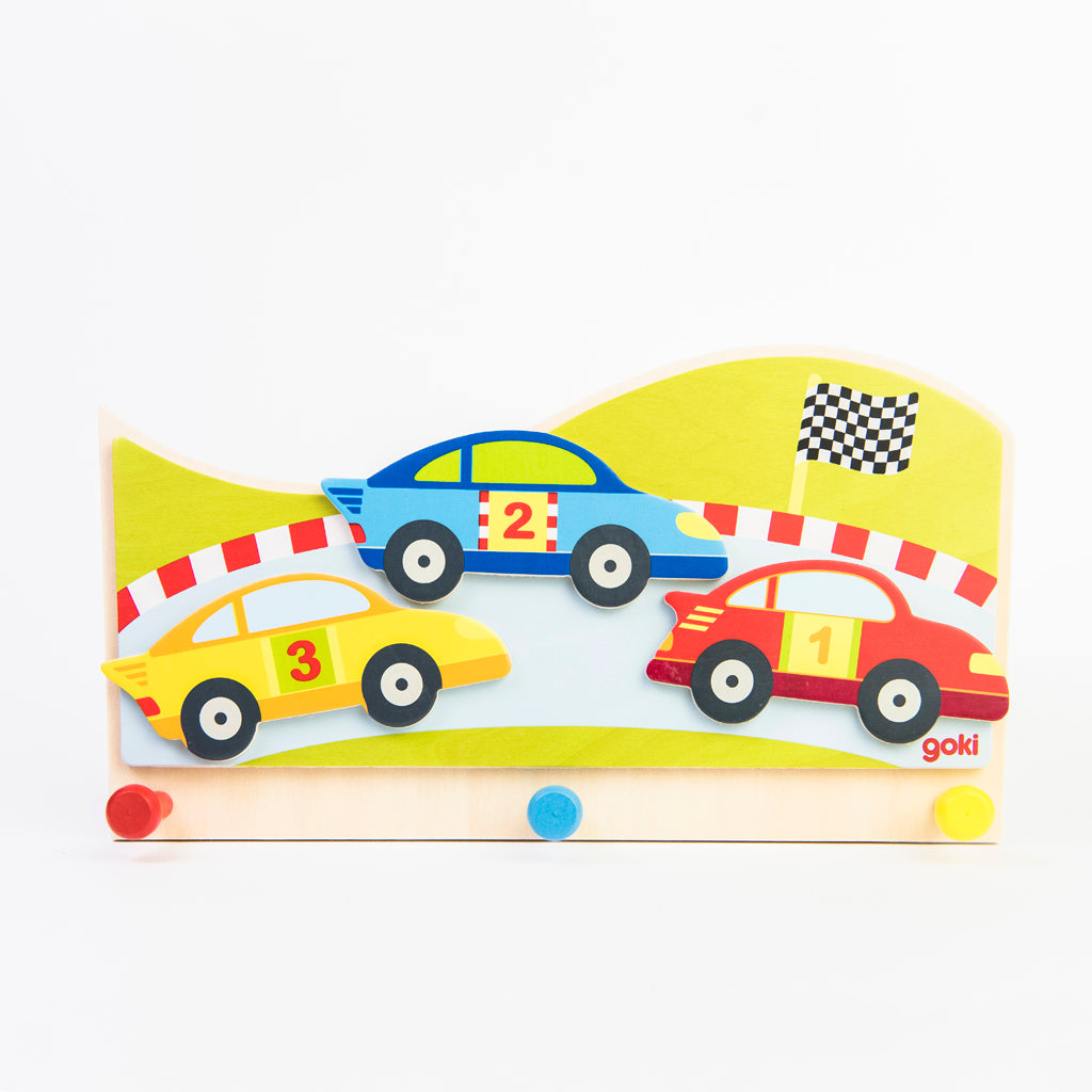 children's racing car coat wall hook