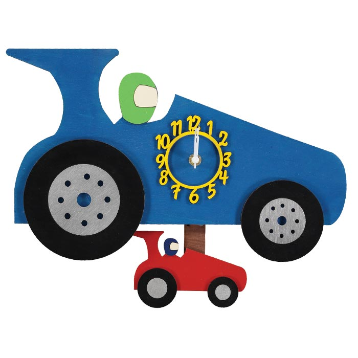 childrens racing car pendulum clock