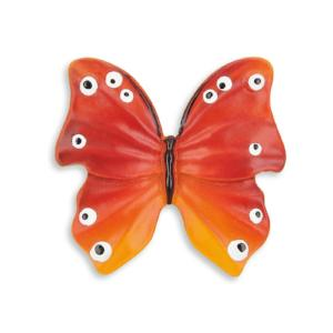 red butterfly door knob