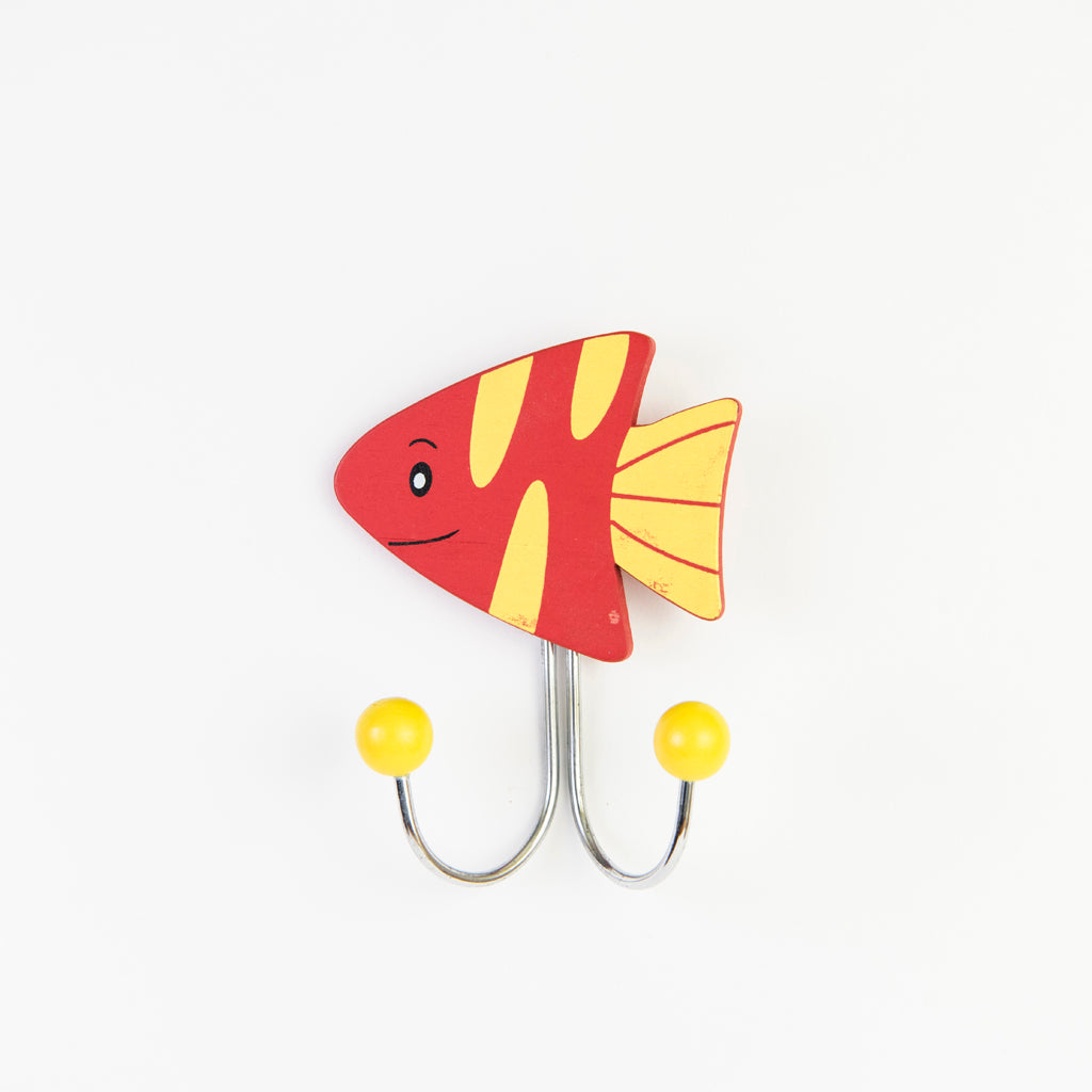 children's red fish wall hook