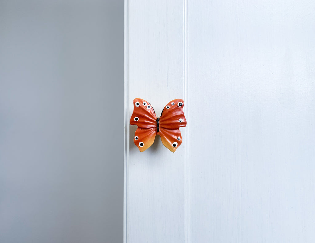 Red Butterfly Door / Drawer Knob