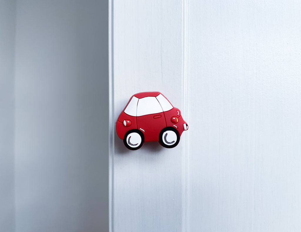Red Car Door / Drawer Knob