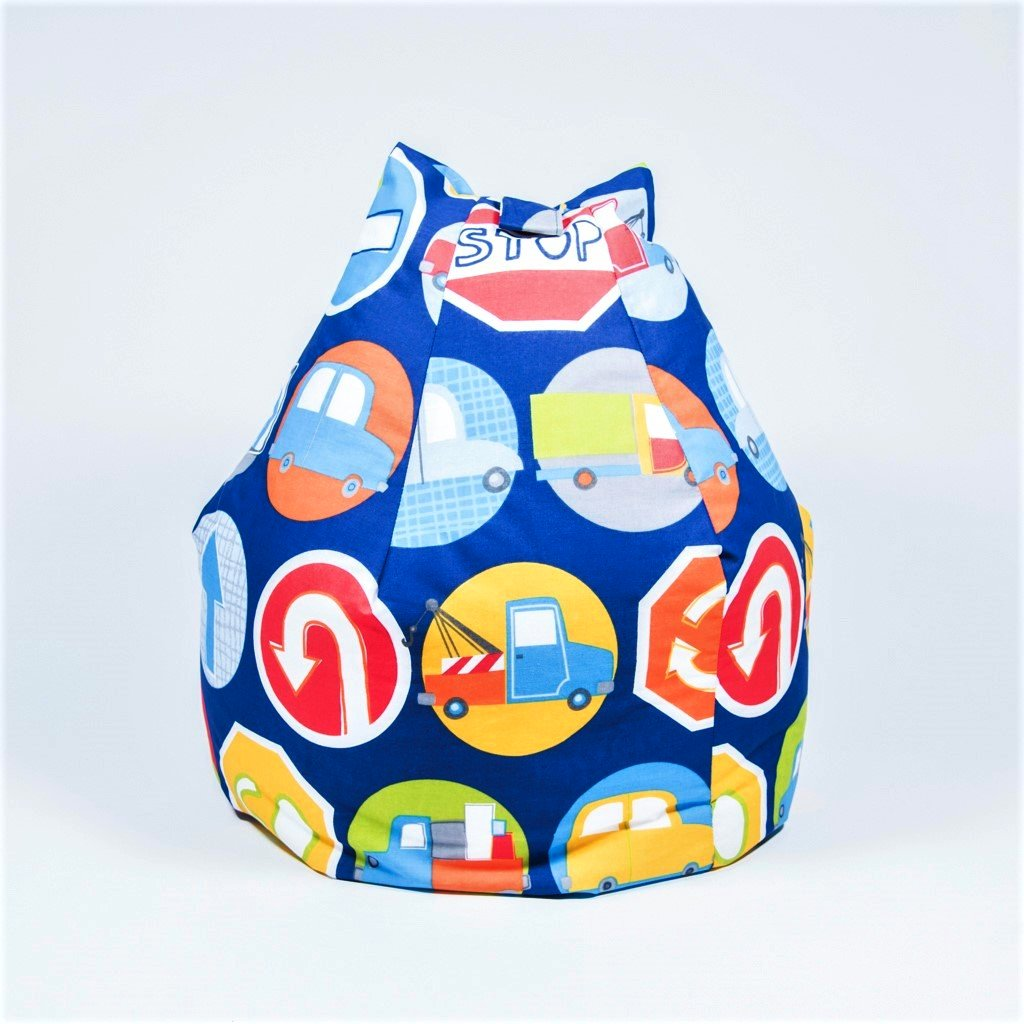 childrens road signs bean bag