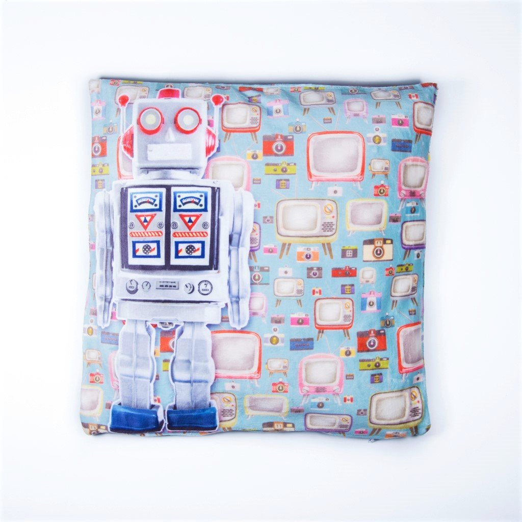 children's robot cushion