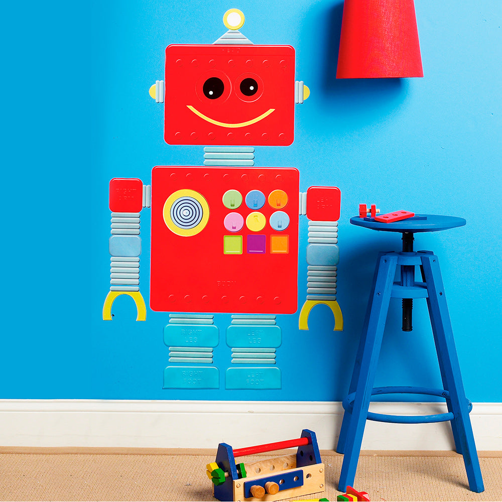 children's robot wall stickers