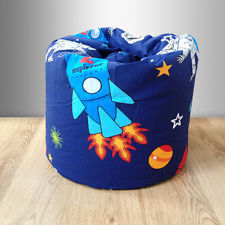 childrens space rocket bean bag