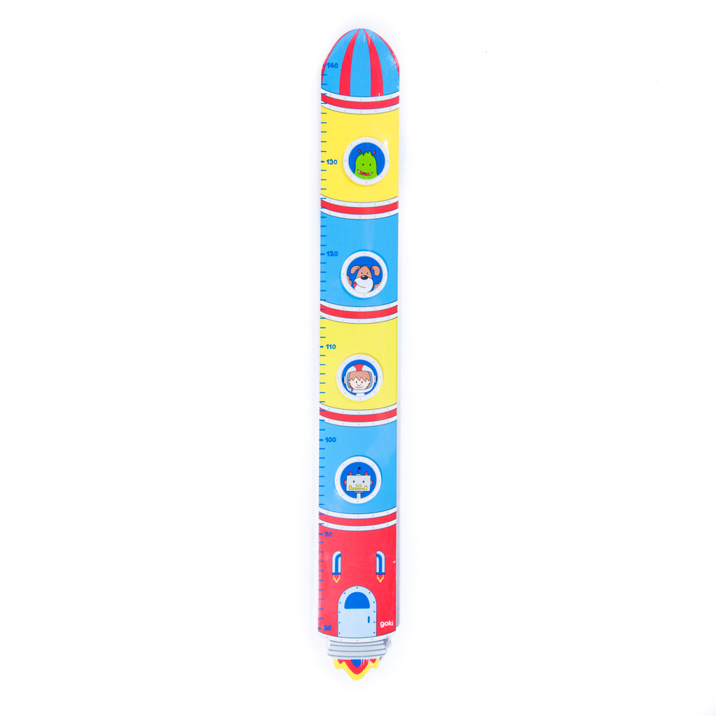 childrens wooden rocket height chart
