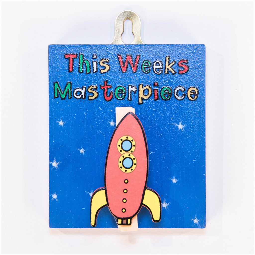 children's rocket masterpiece peg