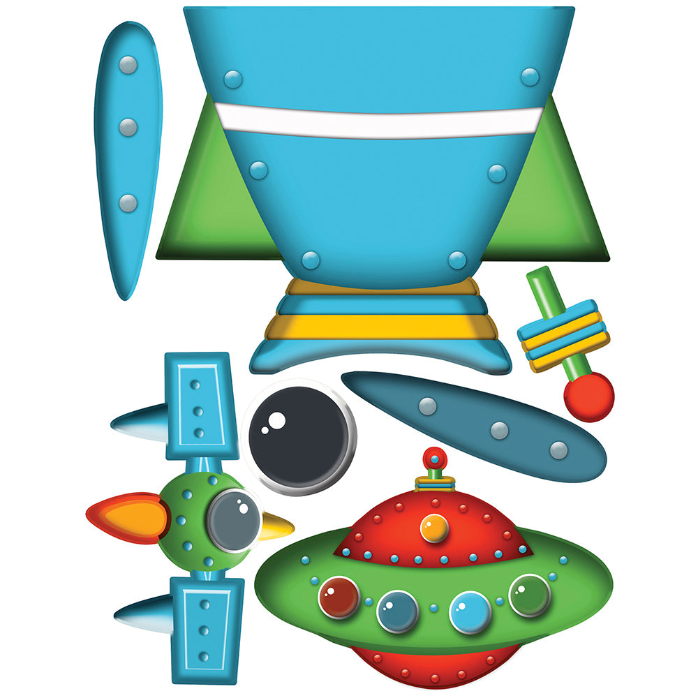 children's rocket ship wall stickers