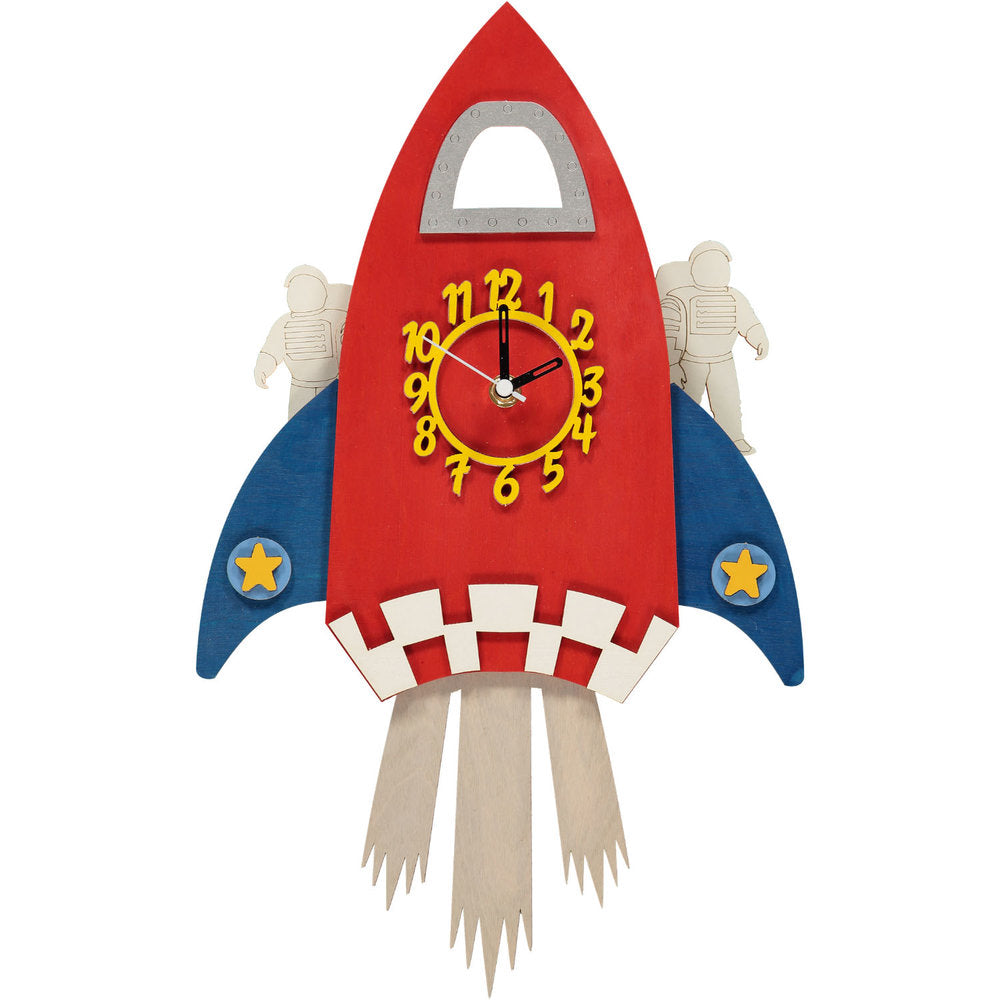 childrens rocket pendulum clock