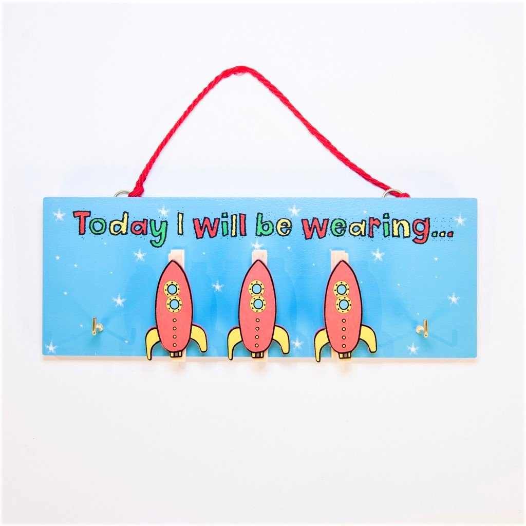 children's educational today i will be wearing rockets pegboard