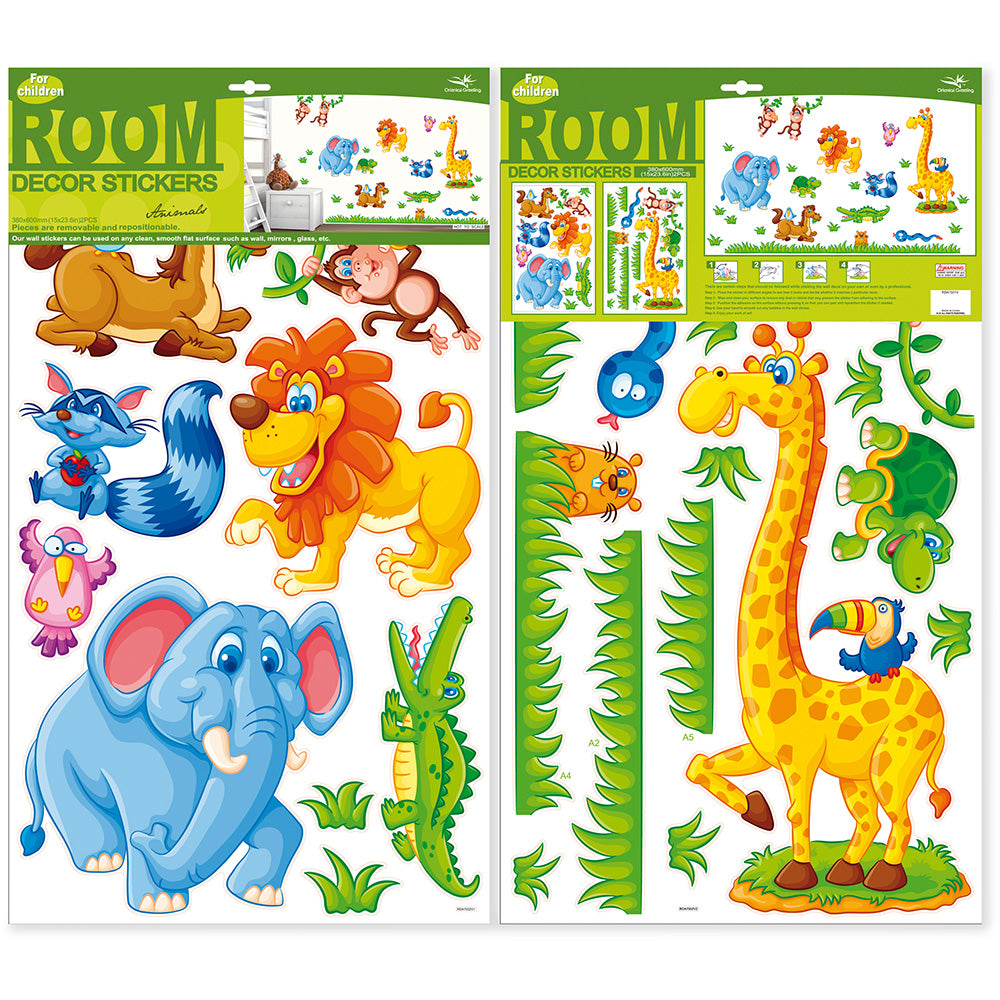 children's safari wall stickers
