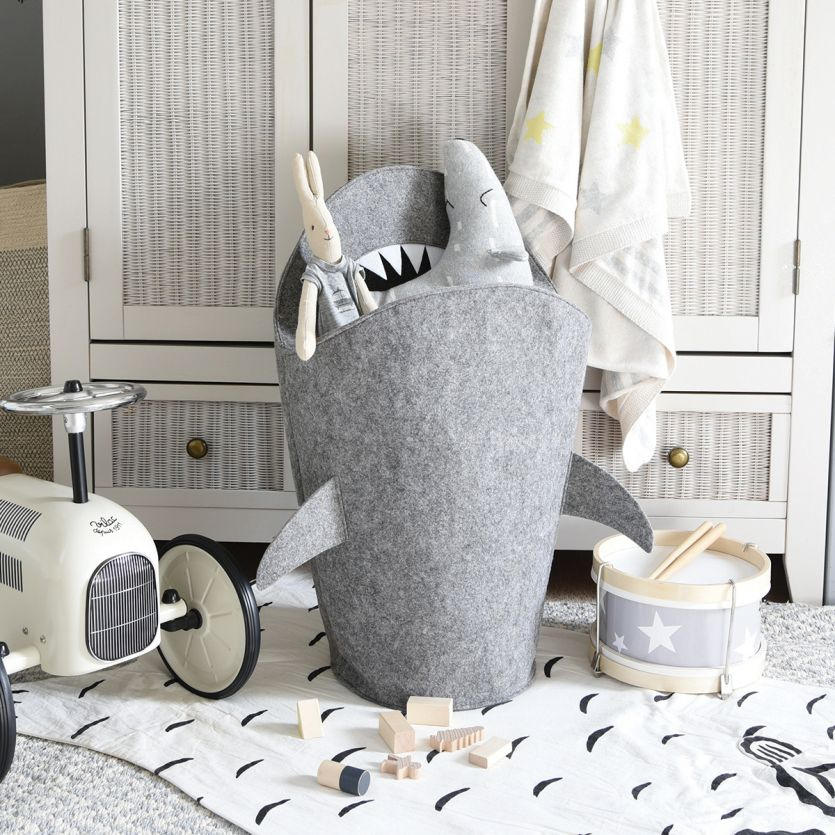 childrens shark laundry storage basket